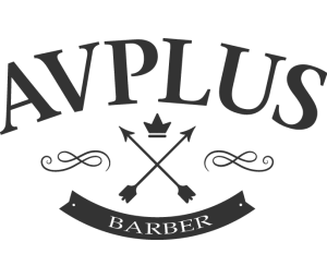 av plus barber logo